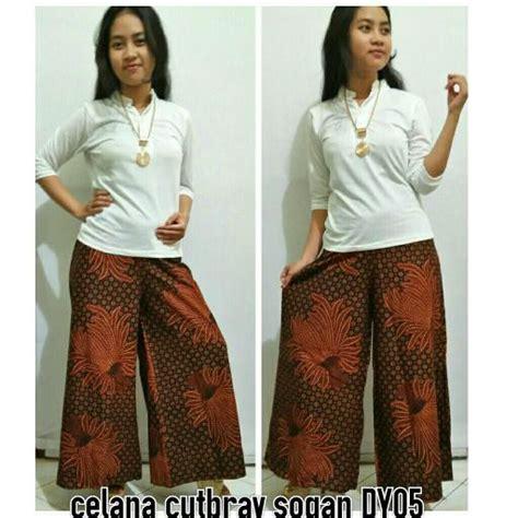 Sogan Kulot Panjang Batik Sogan celana kulot celana cutbray motif sogan dy05 coklat