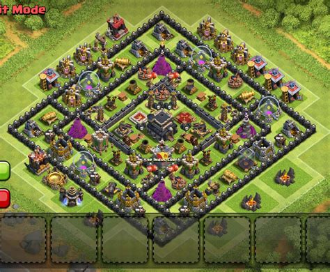 layout coc 4 mortar th9 war base with 4 mortars myideasbedroom com