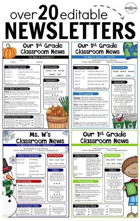 printable newsletter templates for teachers printable newsletter