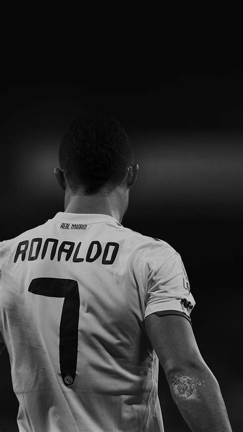 download ronaldo themes for android cristiano ronaldo 7 real madrid soccer black and white