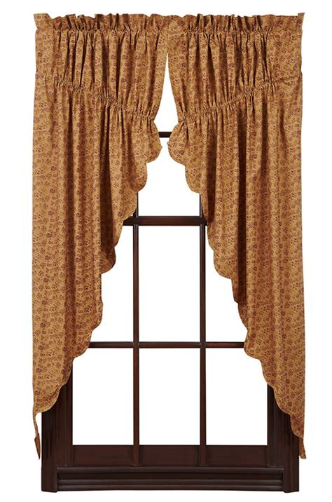 prairie curtains lewiston lined scalloped prairie curtain 36 quot x 63 quot x 18 quot