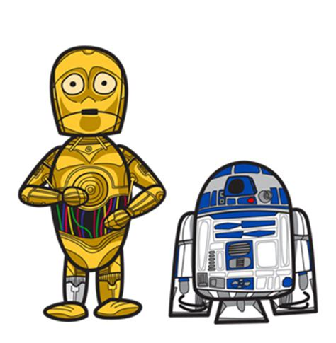 r2 and 3po | i'm making these cartoony star wars