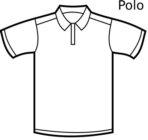 Kaos Baju Psd Cb polo t shirt drawing clipartxtras