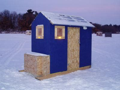 small permanent house   ice fishing forum