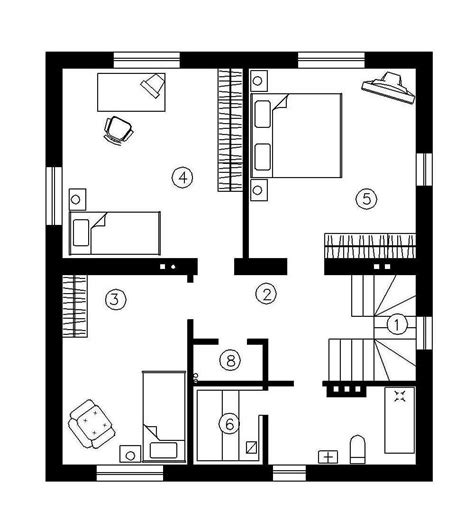 simple houseplans simple two story houses house plan 142 sqm
