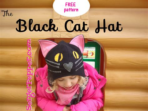 guest post flattering hats for every head already the black cat hat free pattern tutorial serger pepper