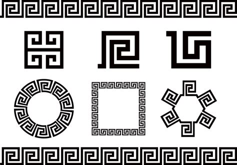 greek pattern svg free greek key vector download free vector art stock