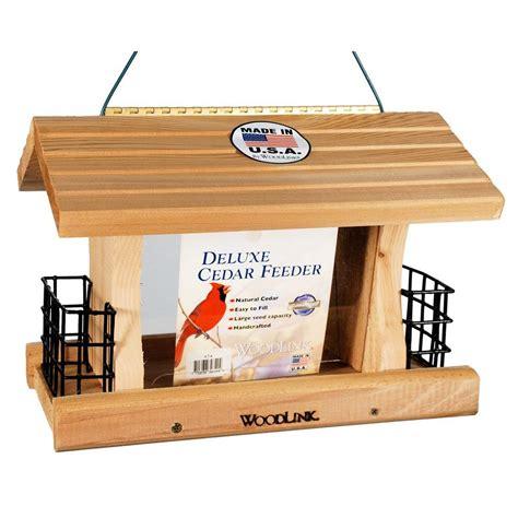 Feeder Home Woodlink Deluxe Cedar Feeder With Suet Cages Bird Feeder