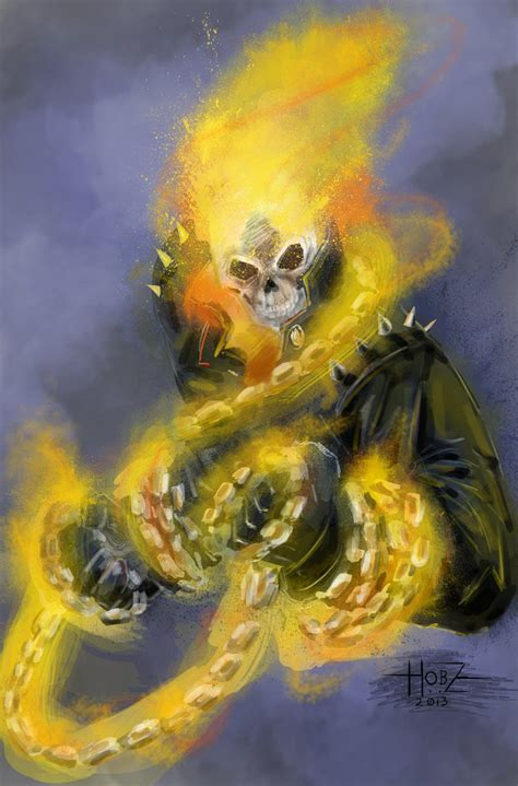 ghost rider speed painting photoshop ghost rider speed paint by hobzart on