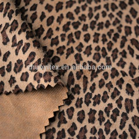 Custom Printed Upholstery Fabric by Leopard Printed Knitted Micro Suede Fabric For Upholstery