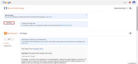 membuat blog pemula cara membuat blog untuk blogger pemula