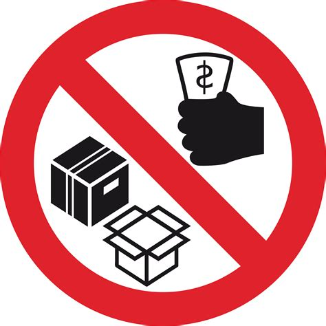 clipart no selling or trading sign