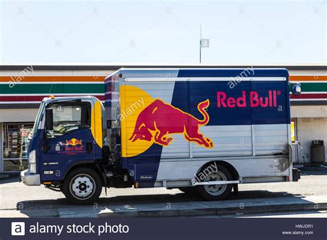 energy drink delivery a bull energy drink delivery truck in san leandro