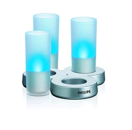 candele philips philips imageo candle lights x 3 blue wireless recharge ebay