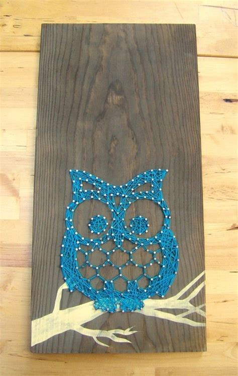 Owl String - leuk werkje met spijkers en draad uil owl made from