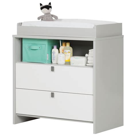 south shore change table south shore cookie changing table dresser soft gray and