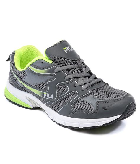 fila barrel grey running shoes fila barrel grey green sports shoes price in india buy