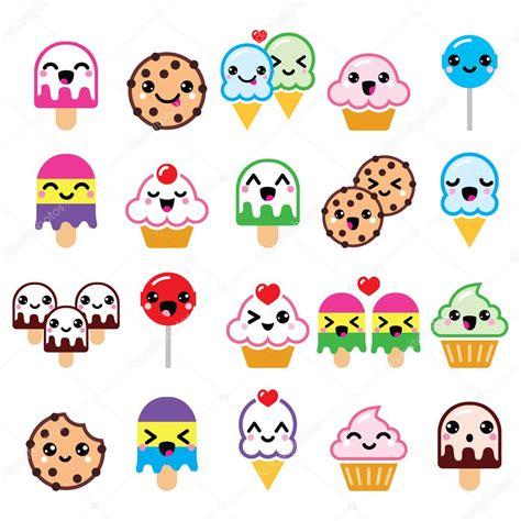 imagenes de kawaii emoticons personajes de comida kawaii cute cupcake helado