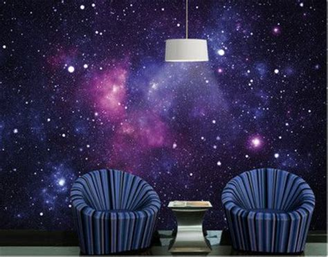 galaxy print wallpaper home decor