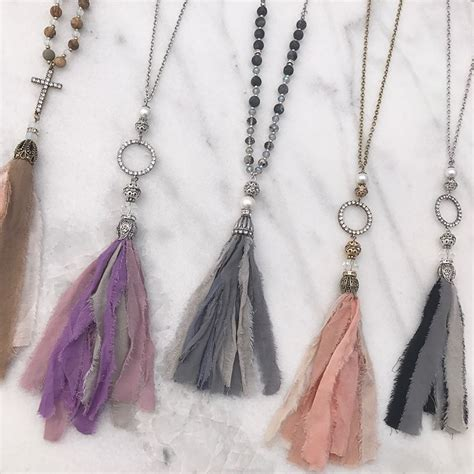 top 28 shabby fabric tassels groopdealz shabby chic fabric tassel necklace things to make
