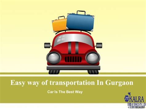 Easy Way Of Transportation In Gurgaon Vacation Powerpoint Presentation Templates