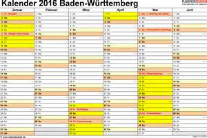 Ostern Kalender 2016 Kalender 2016 Baden W 252 Rttemberg Ferien Feiertage Pdf