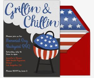 memorial day bbq party invitations from theinvitationshop com