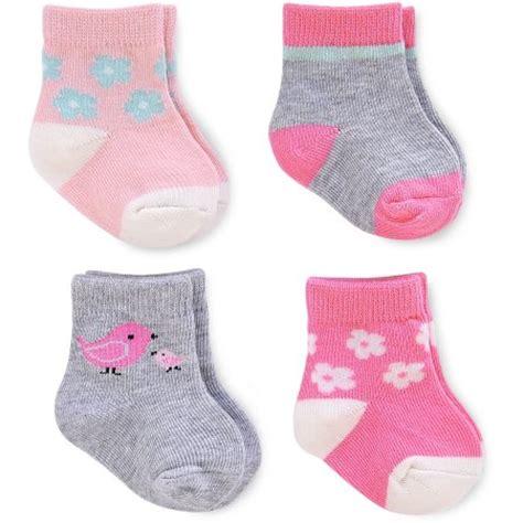 child of mine by s newborn baby computer socks 4 pack walmart