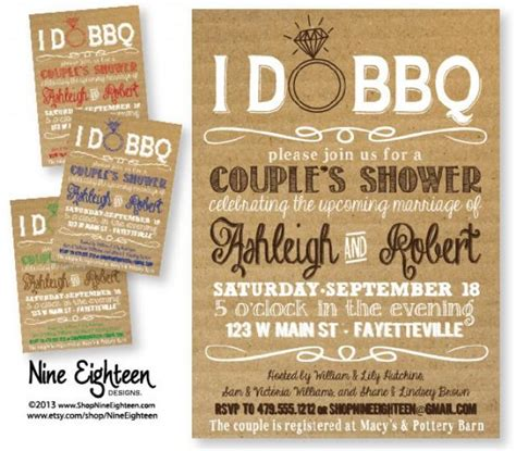 i do bbq couples shower barbeque bridal shower custom - Bbq Themed Wedding Shower Invitations
