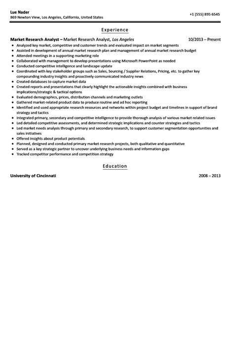 Market Research Resume Examples by Market Research Analyst Resume Sample Velvet Jobs