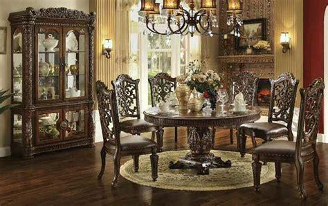 von furniture vendome large  formal dining room set