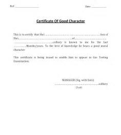 Sle Of Moral Character Letter For School Character Certificate For Gas Testing Gujarat S Mining Engineer For Mining