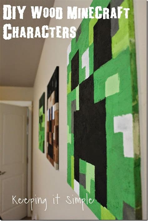 Minecraft Diy Crafts Party  Ee  Ideas Ee