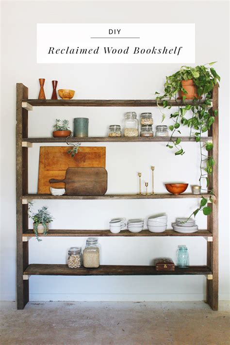 diy reclaimed wood bookshelf by elyce smith
