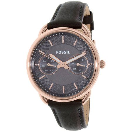 Fossil Tailor Gray Es3913 fossil s tailor es3913 grey leather quartz fashion
