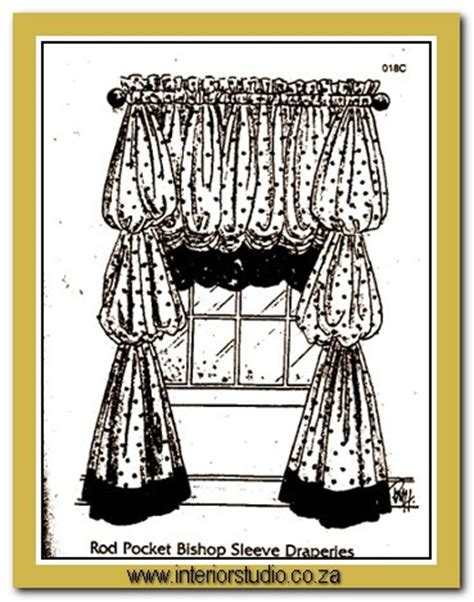 bishop sleeve curtains interior studio wrought iron curtaining chandeliers