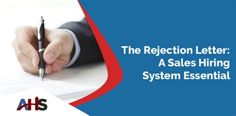 Rejection Letter Mistake sales hiring system for sales managers part 2