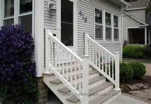 Pvc Stair Railings by Railings Iron Aluminum Vinyl Amp Pvc All4fencing