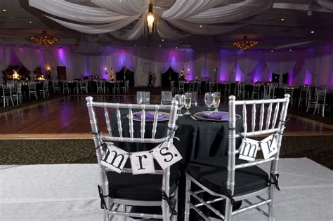 Black Silver Wedding Decorations by Purple Wedding Ideas On Silver Weddings