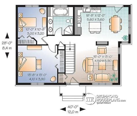 2 bedroom single storey house plans house plan w3117 detail from drummondhouseplans com