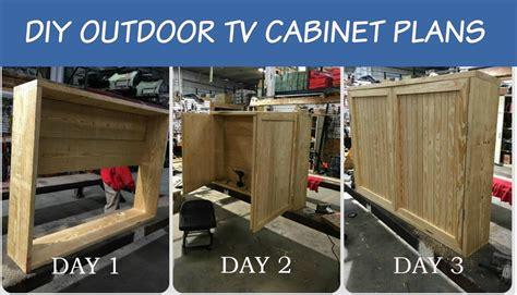 diy outdoor tv plans outdoor tv with double doors building plan