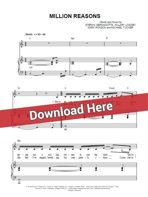 keyboard chords tutorial pdf lady gaga million reasons sheet music piano notes chords