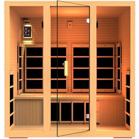 infrared sauna jnh lifestyles joyous 4 person far infrared sauna mg415hb