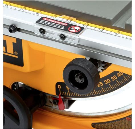 dewalt table saw guard dewalt dwe7480 10 inch compact table saw with site pro