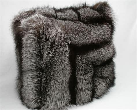 Fox Fur Pillow by Silver Fox Fur Pillow With Saga Label Master Furrier