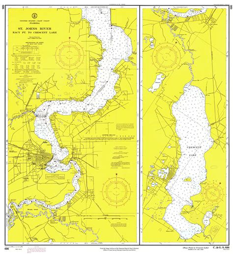crescent florida map st johns river racy point to crescent lake 1970