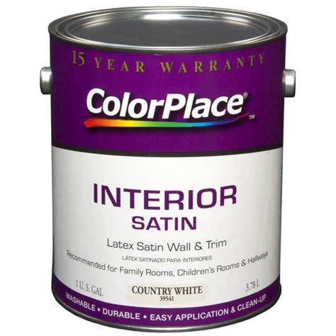 color place interior satin paint country white walmart