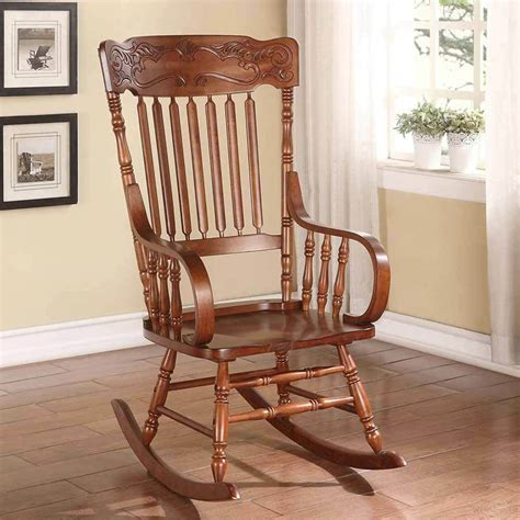 Living Room Rocking Chairs - kloris collection transitional living room rocking chair