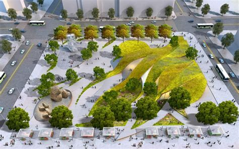 los angeles landscape architects rolling green ribbons proposed for new park in