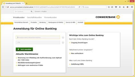 commerz bank de commerzbank anmeldung images